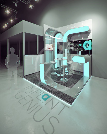 Dental Exhibition Booth Design | Comelite Architecture Structure and