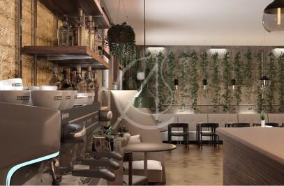 Green Industrial Restaurant Design
