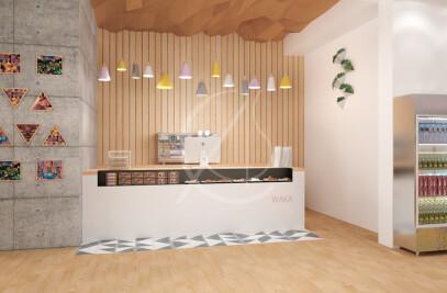 Waka Minimal Style Restaurant Interior Design