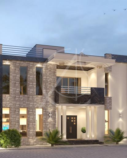 Modern Granite Residential House Design Comelite