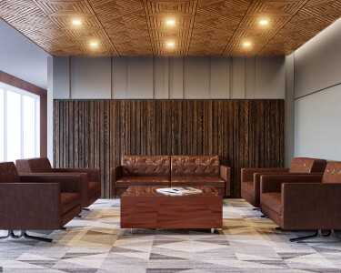 Sakkho Wood Tiles | Suspended Featured Ceiling