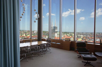 50's style above Zagreb