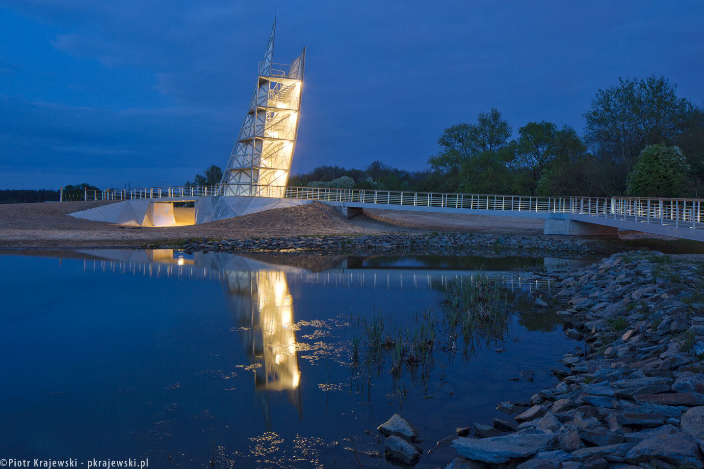Observation Tower at Bardowskiego lagoon in Warsaw