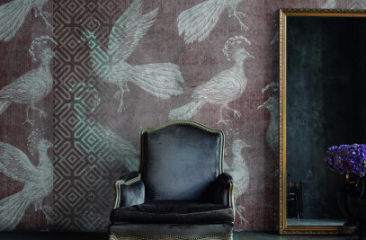 Aqua Acrylic Sand non woven wallpaper