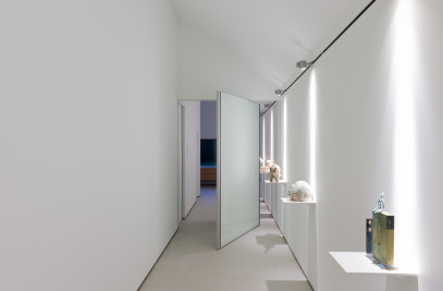 Modern pivoting doors.