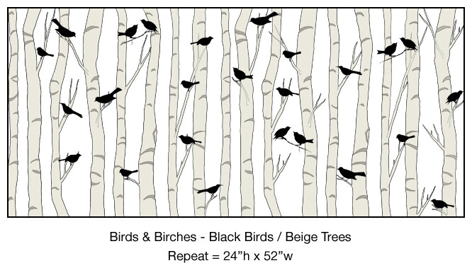 Bird and Birch - Figurative Designs and Patterns