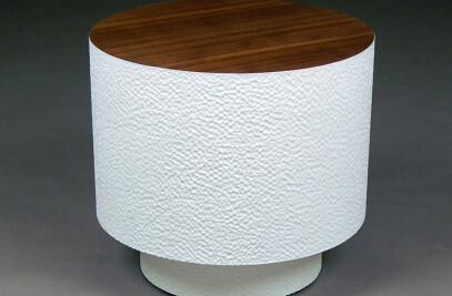 Walnut Pedestal Drum Table