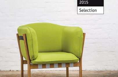 Dowel lounge armchair