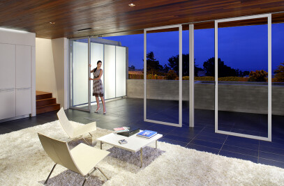 Single Track Sliding Glass Walls