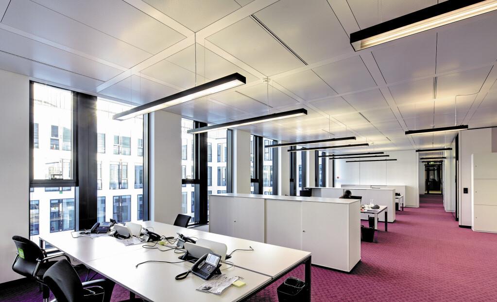 Acoustic transparent heat conducting profiles