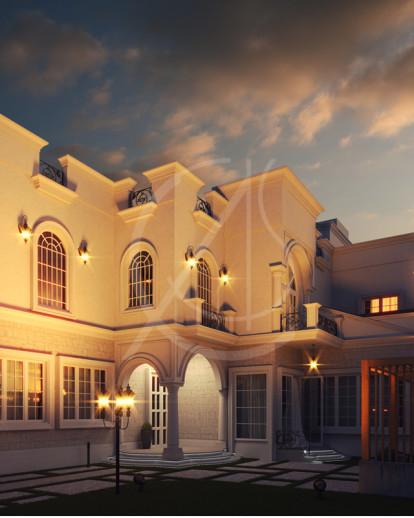 Classic Saudi Arabian Villa Exterior Design
