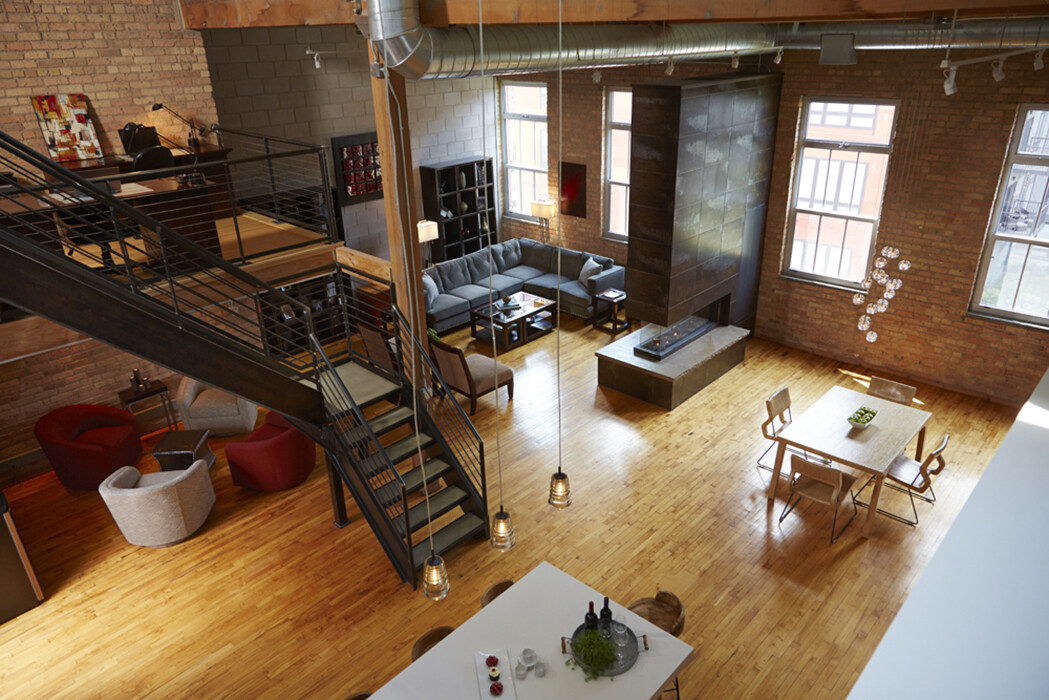 The North Loop Loft with Lucius 140 Fireplace
