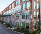 The newly remodeled Buggy Works Factory, that is now used as condominiums.