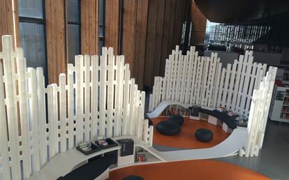 LINK modular room divider - Mediatheque