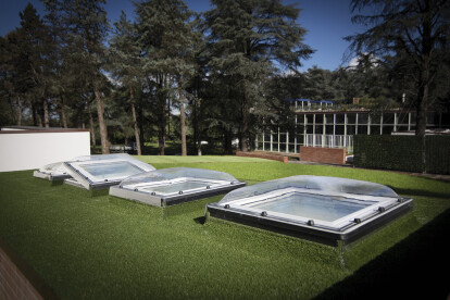 Flat roof window Type C (with dome)