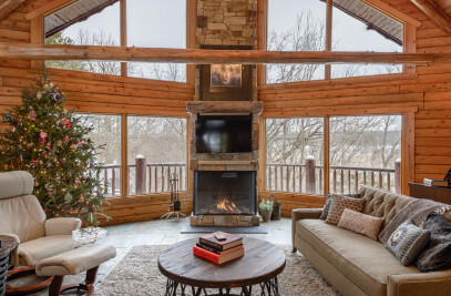 Northwoods Cabin with Trisore 100H Fireplace