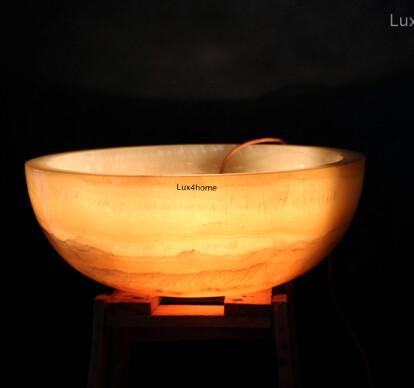 Onyx Sinks - Lighted Onyx washbasin