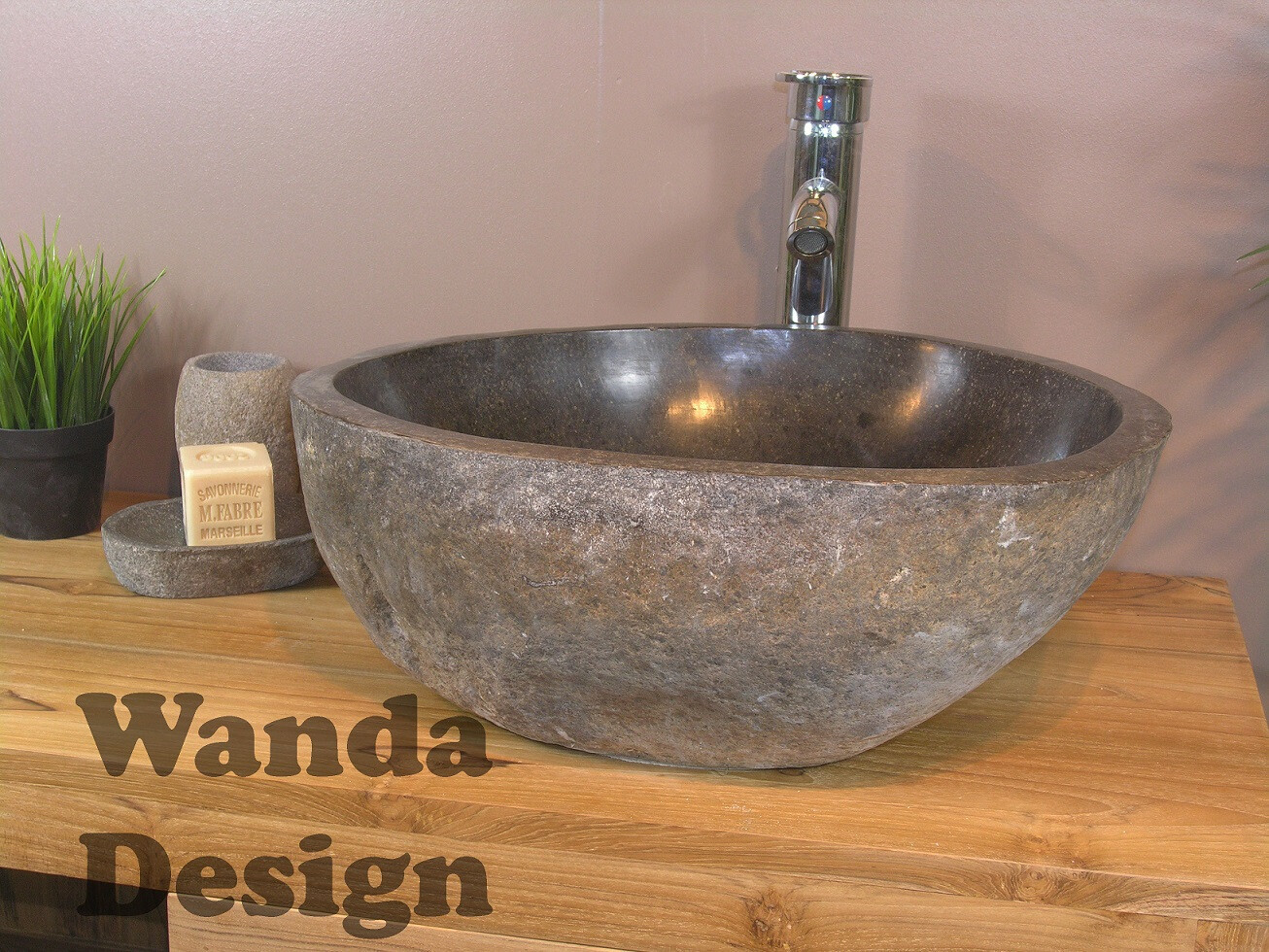 River Stone Sinks Natural Stone Wash Basin By Lux4home Media Photos And Videos 5 Archello