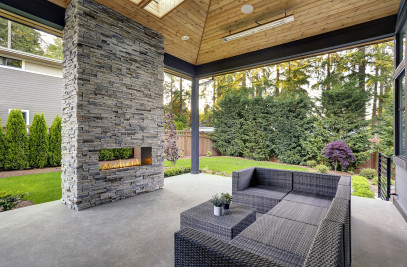 J Series See-Through Outdoor Gas Fireplace