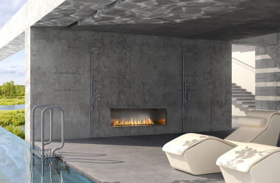 J Series Single-Sided Outdoor Gas Fireplace