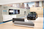 Trade show booth at the Geneva Motor Show