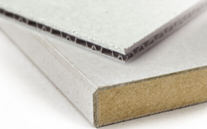 Material composition: polypropylene honeycomb and MDF