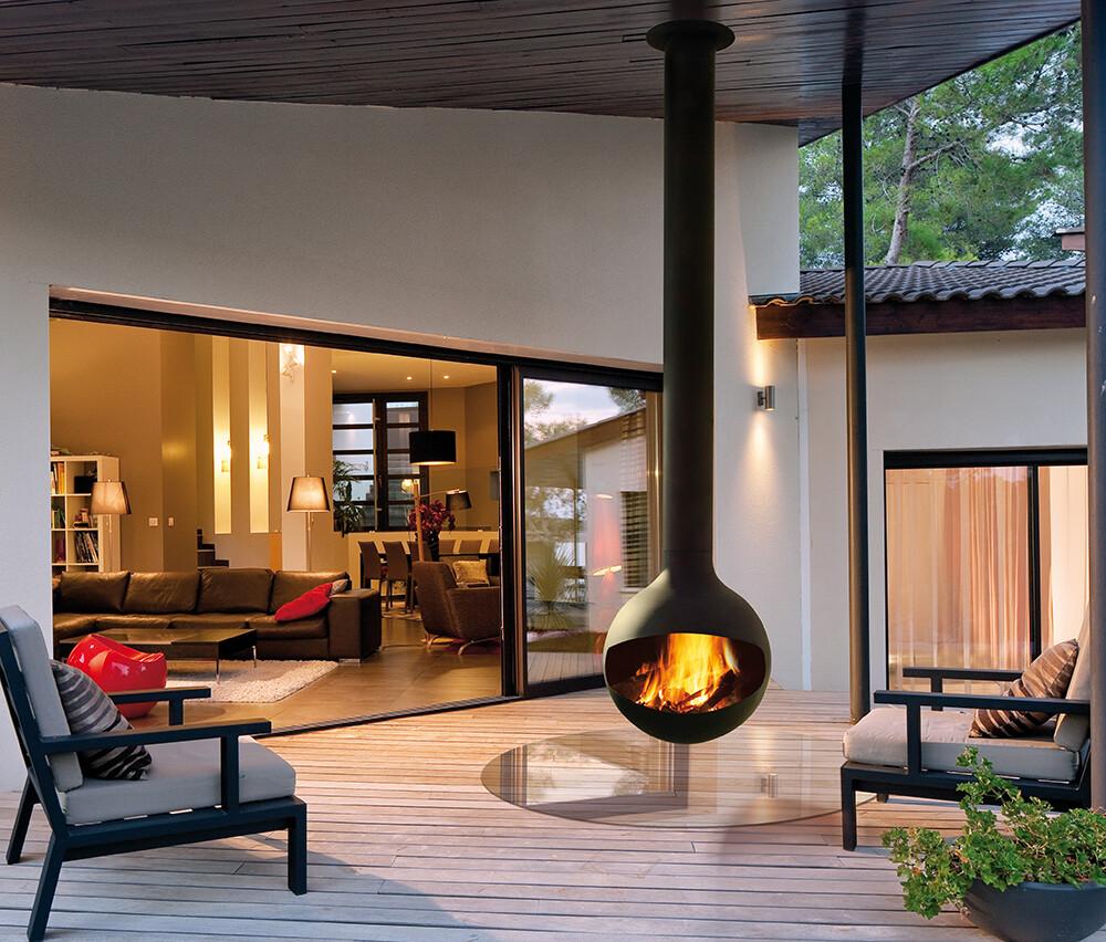 Bathyscafocus Outdoor Fireplace