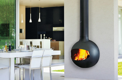 Emifocus Outdoor Wood or Gas Fireplace