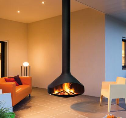 Ergofocus Suspended Wood Fireplace