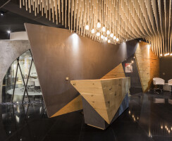 The installation is designed parametrically in a wave form.