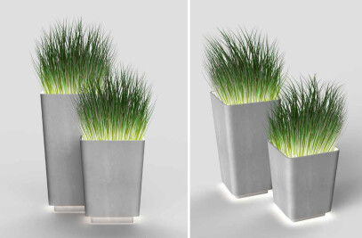 Brenta | Illuminated planters L and M