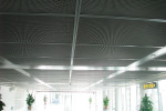expanded mesh ceiling with frame