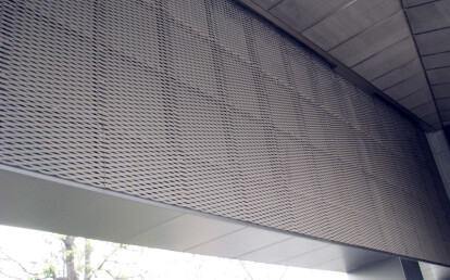 expanded metal interior cladding