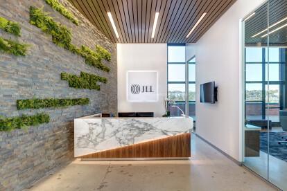 Lobby at JLL's University City office in La Jolla.