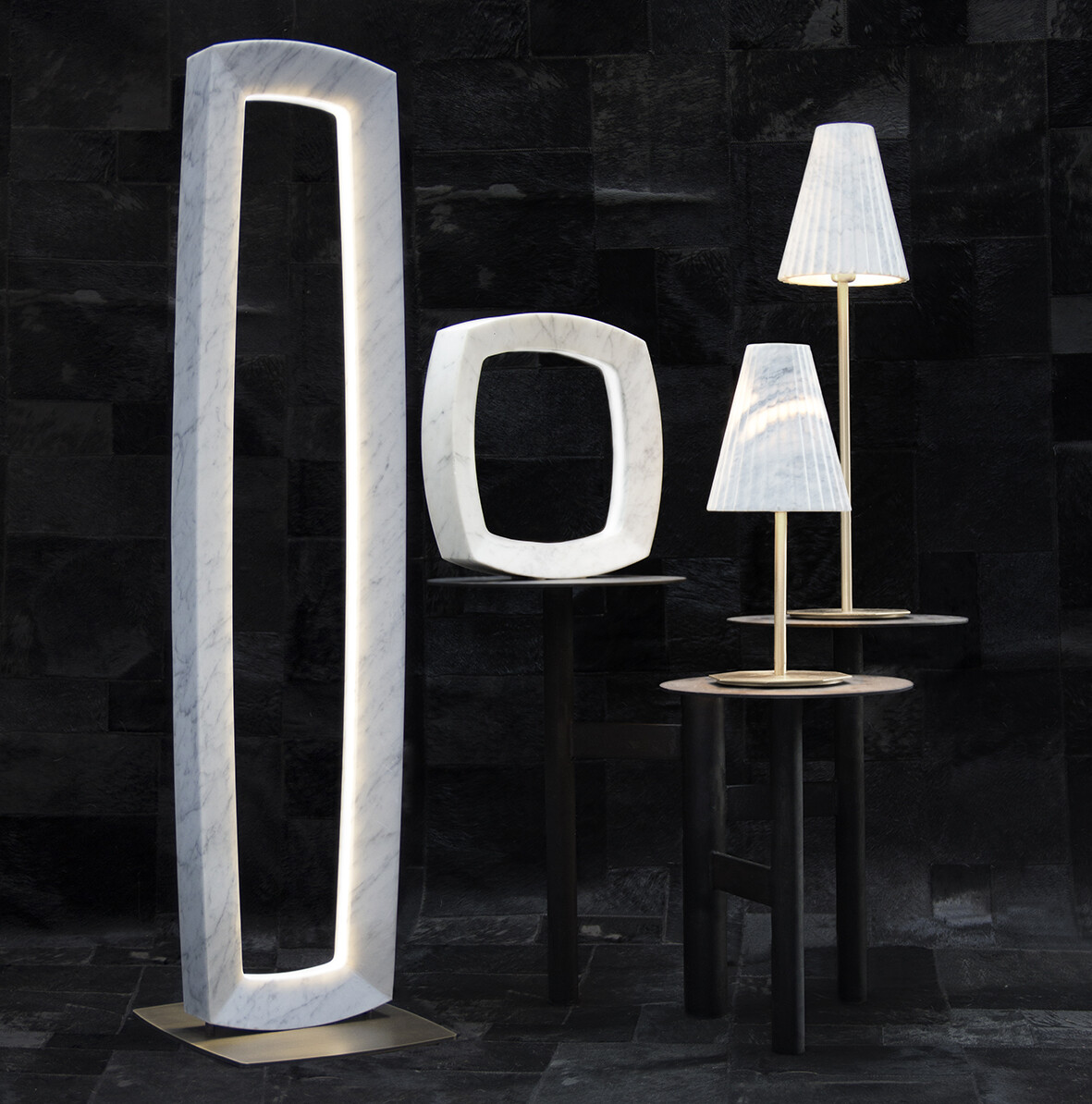 OREADI Marble Lamps by Fabio Rotella