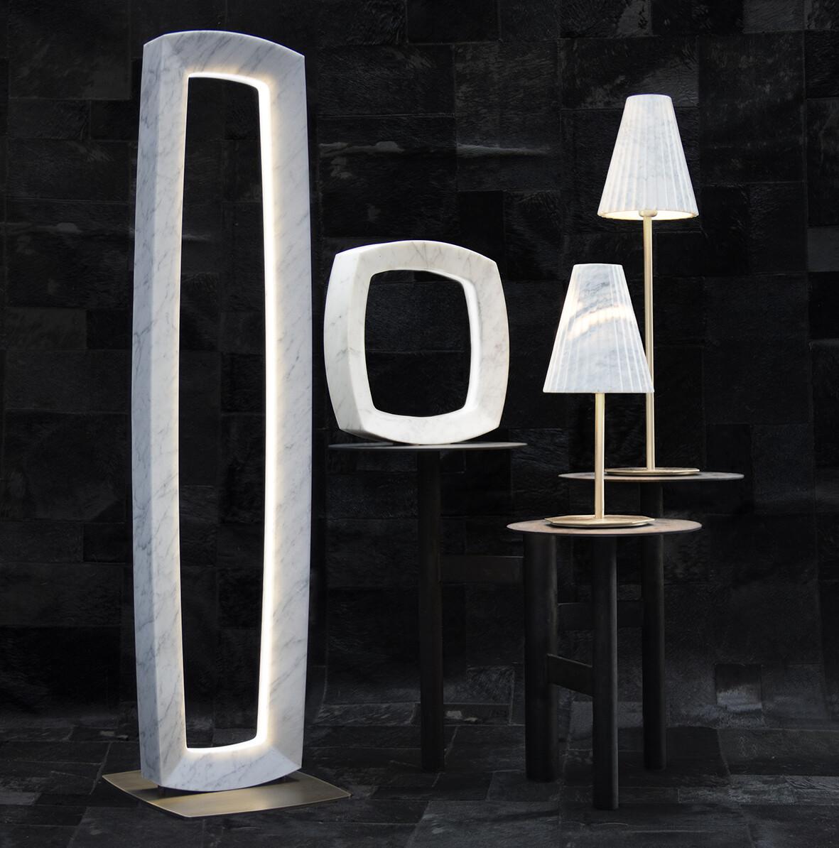 OREADI Marble Lamps by Fabio Rotella