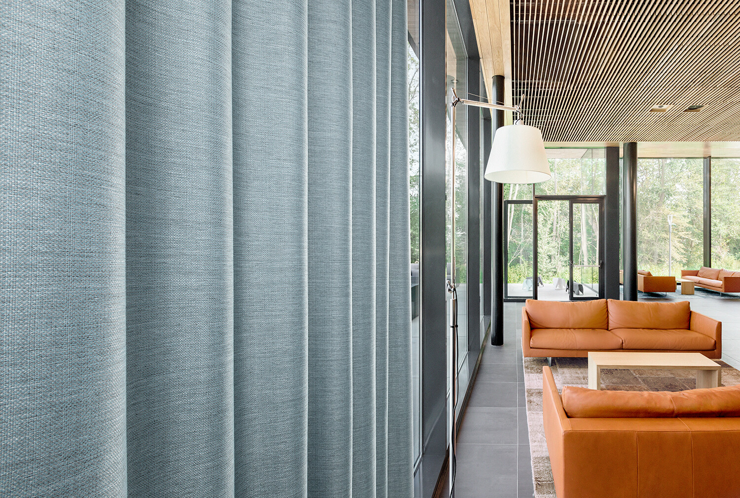 Curtain fabrics inspired by nature