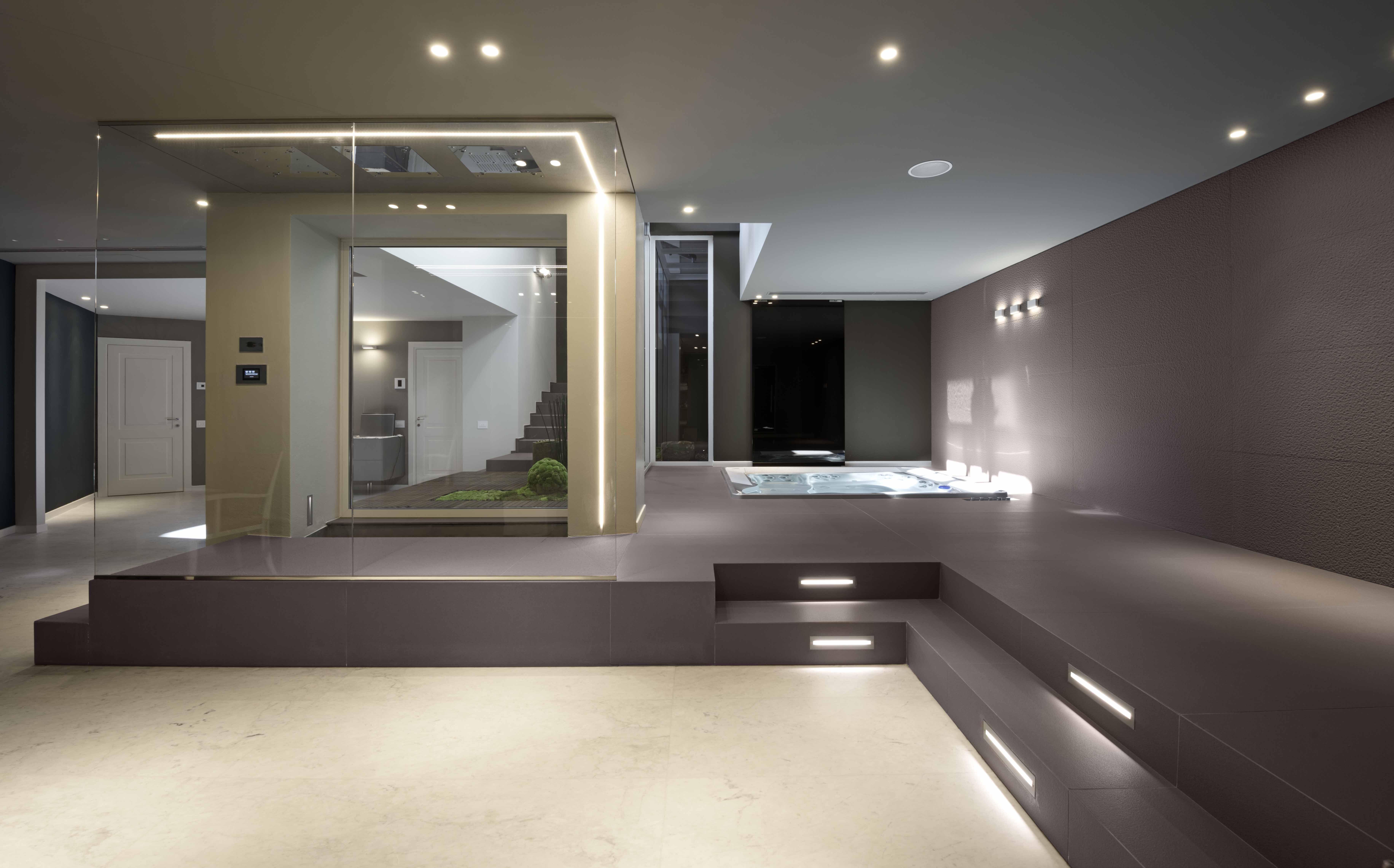 SPA interior wall cladding and flooring