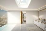 Linvisibile - Brezza - Filo 10 Vertical Pivot Door - Special bronze metal finish designed by Mattia Biagi