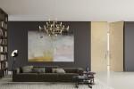 Linvisibile - Brezza - Filo 10 Vertical Pivot Door - Alcantara® Anthemusa finish