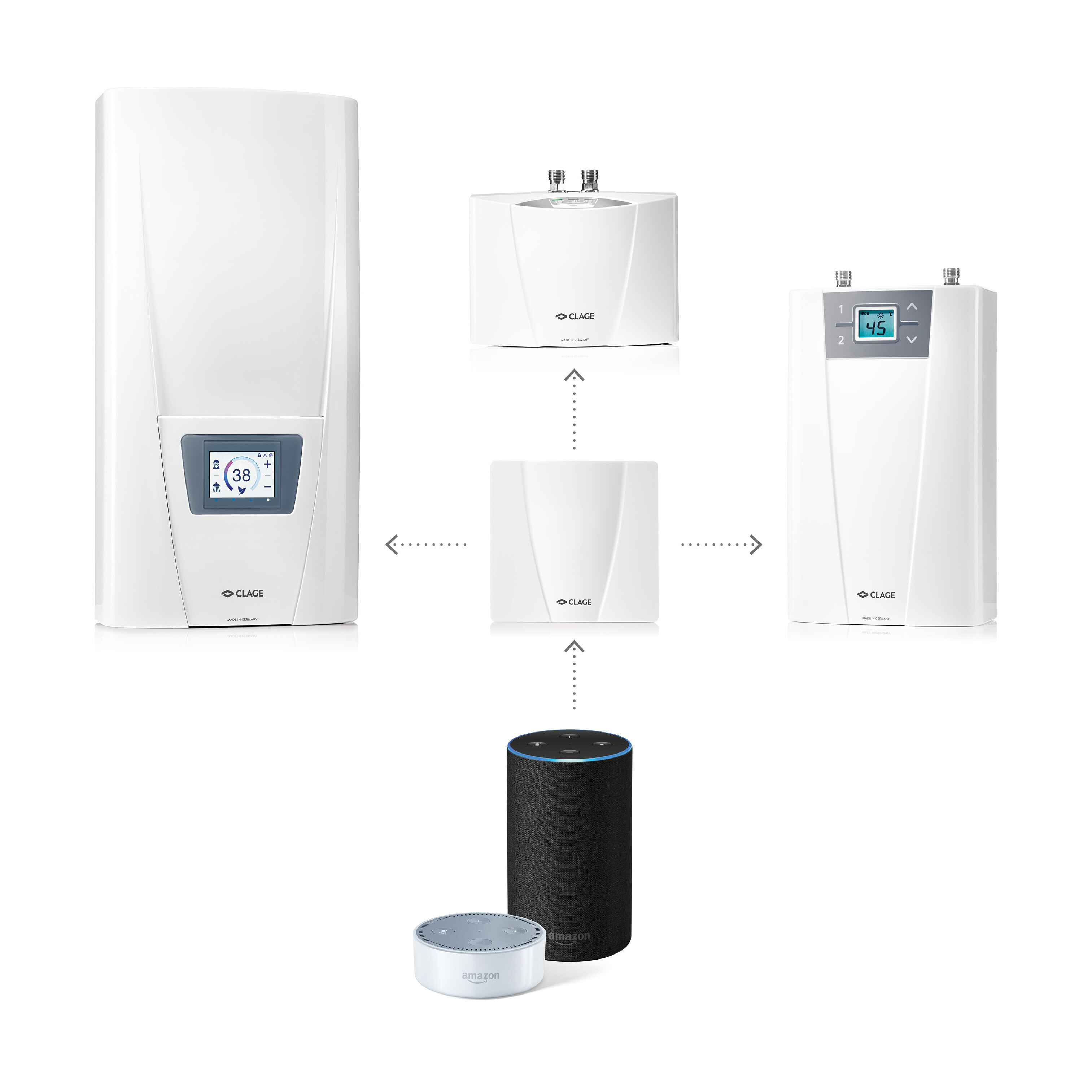Voice control of E-instant water heaters