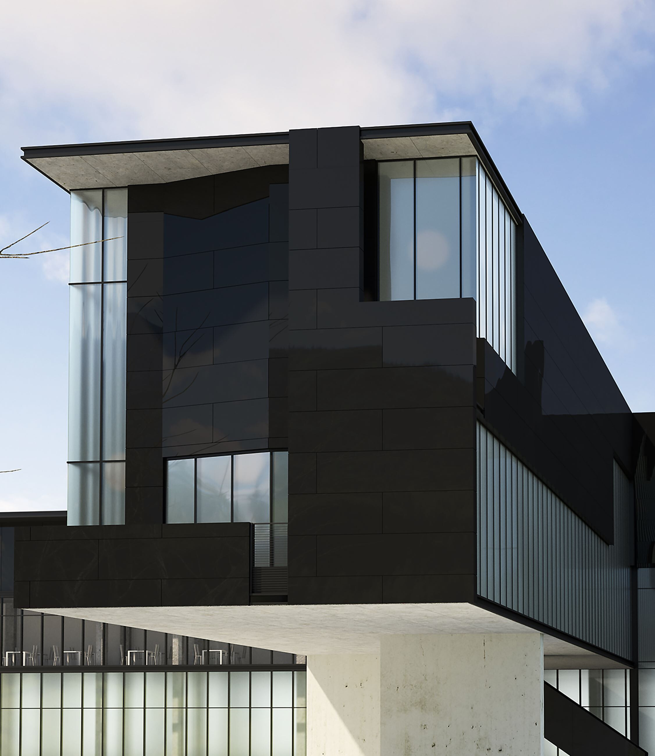 Exteriors - microventilated façades