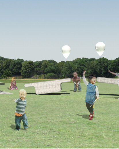 Prize-winning project 'Illuminated Balloon Bench'