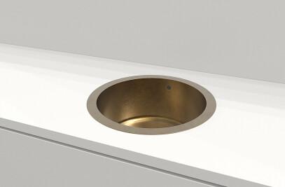 Urbino Round Brass Sink