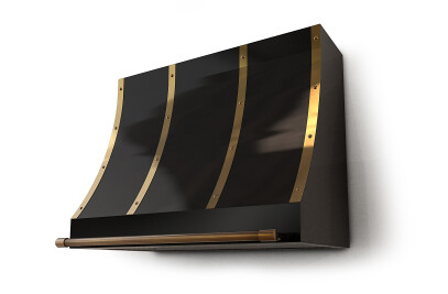 Pirate Range Hood Black & Brass