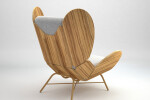 FreeWing lounge chair - olive