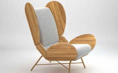 FreeWing lounge chair - dark