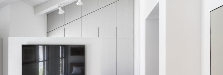 Master bedroom's walk-in closet