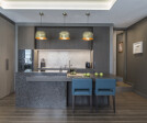 London pied-a-terre open-plan kitchen