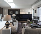 London family home open-plan living area